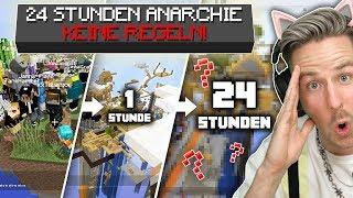 IHR glaubt niemals, was Minecraft SPIELER in 24h OHNE REGELN erschaffen haben (eine DEMOKRATIE!!)