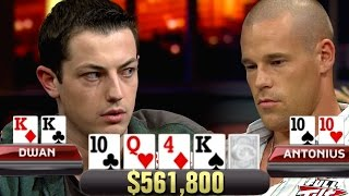 SET Over SET For $561,800! Patrik Antonius Falls Right Into Tom Dwan's Trap