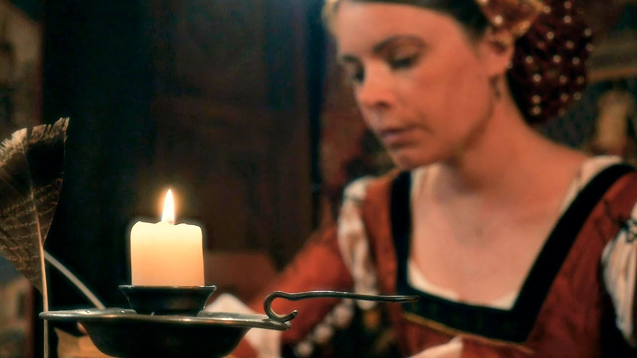 Letter Writing at the Manor   Cinematic ASMR (paper sounds, writing, unintelligible whispers)