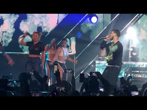 """Culpables - Anuel AA And Karol G Live New York 11/17/18 """"First Kiss"""""""