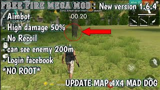 FREE FIRE MOD APK 1.6.4 VERSION    NEW MAP MAD DOG[NO ROOT]