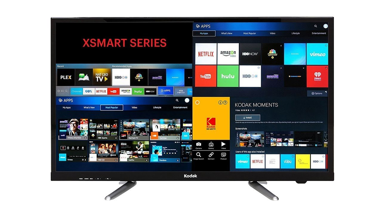 kodak 80 cm 32 inches 32hdxsmart hd ready led smart tv black youtube. Black Bedroom Furniture Sets. Home Design Ideas