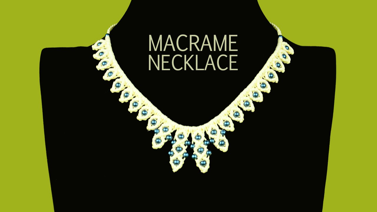 Raindrop necklace tutorial macrame school youtube aloadofball Gallery