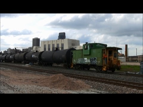 Memorial Day Railfanning in downtown Omaha, Nebraska with my son Henry