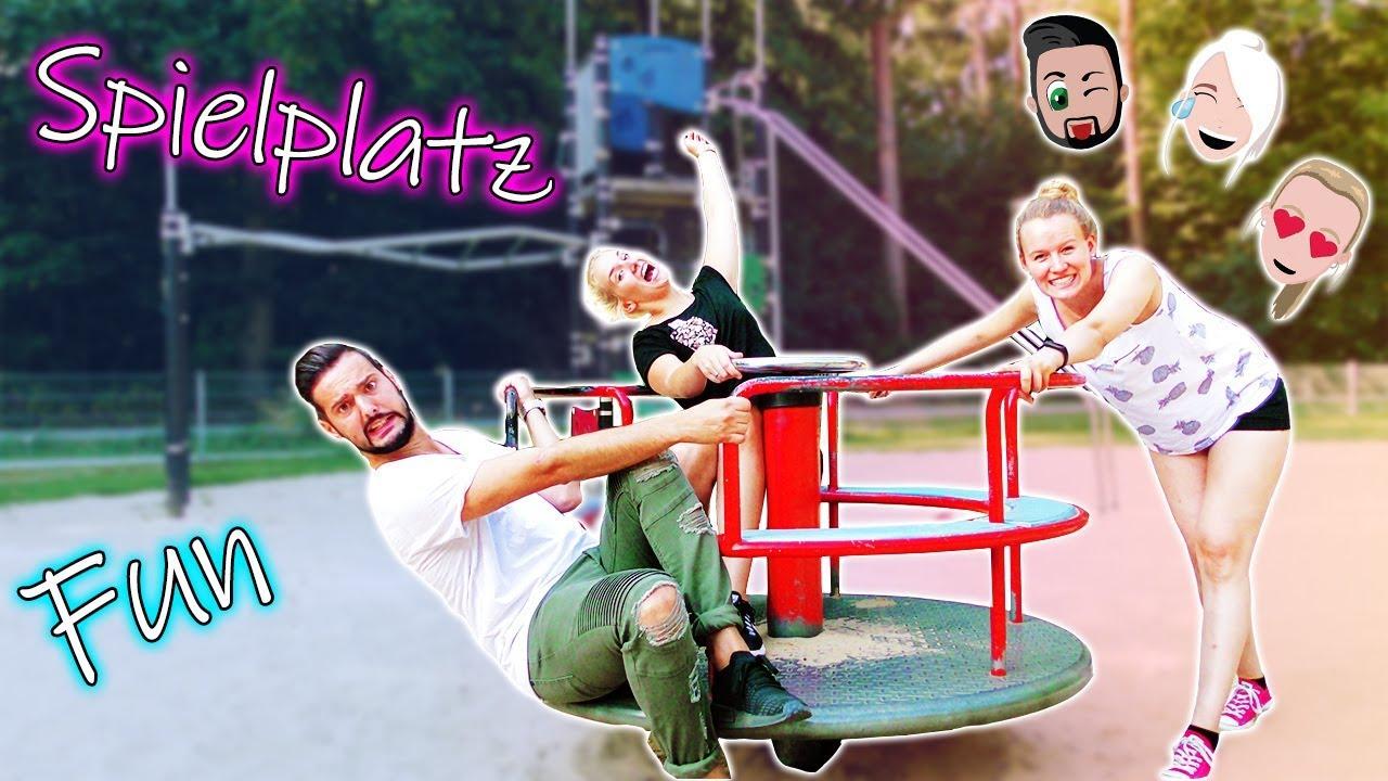 Klettergerüst Du Hast : Spielplatz besuch mega fun nina kaan & kathi! mit xxl klettergerüst