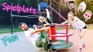 SPIELPLATZ BESUCH Mega Fun Nina, Kaan & Kathi! Mit XXL Klettergerüst - Peinliche Erwachsene #4 😅