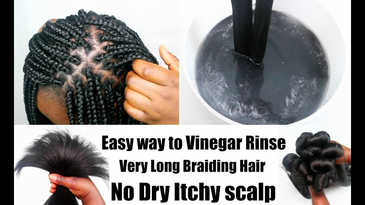 Easy way to vinegar rinse long synthetic braiding hair prep for easy way to vinegar rinse long synthetic braiding hair prep for box braids twists updated vedeo ccuart Choice Image