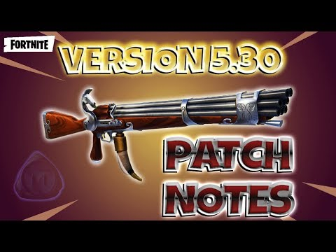 Fortnite Save The World : Version 5.30 Patch Notes