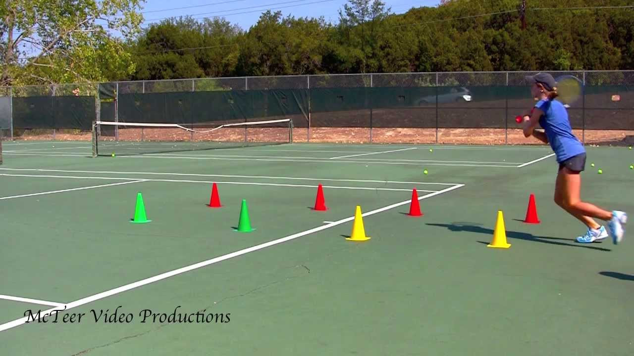 8 Cone Tennis Footwork Drill