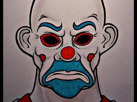How to draw jokers bank robber mask