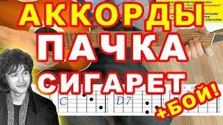 Пачка сигарет | Аккорды + Бой | Цой Кино | Разбор песни на гитаре видео
