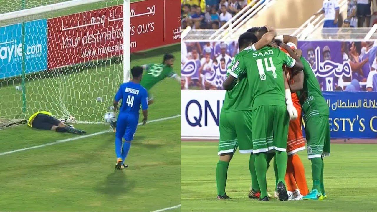 حارس يسجل هدف في كأس عمان من المرمى للمرمى 2018/9/18