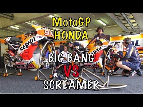 MotoGP HONDA Big Bang Engine 2017 VS Screamer Engine 2016