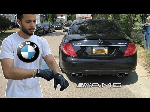 Crazy BMW Driver Drives A Mercedes AMG