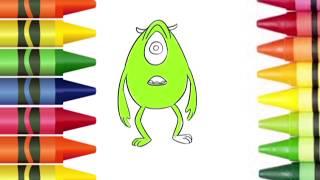Draw Cartoon monster inc mike wazowski meme in Simple steps | Lotusbaby TV