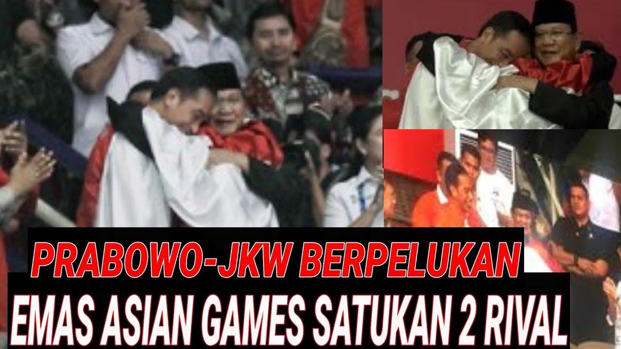 Haru Detik2 Jokowi Prabowo Pelukan Di Emas Asian Games Pencak Silat