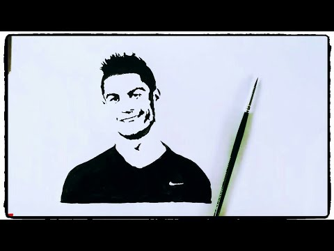 How To Draw Cristiano Ronaldo Painting Tutorial In Simple Easy Step