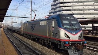 Amtrak, NJT, & Norfolk Southern HD: Early Evening Action @ New Brunswick (3/11/15)