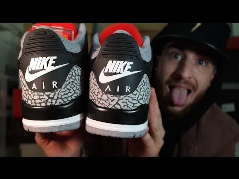 e2267203958568 FIRST REVIEW ON YOUTUBE!!!2018 JORDAN 3(Black Cement)REVIEW+UNBOXING+ON-FOOT!!!THESE  ARE AMAZING!!!