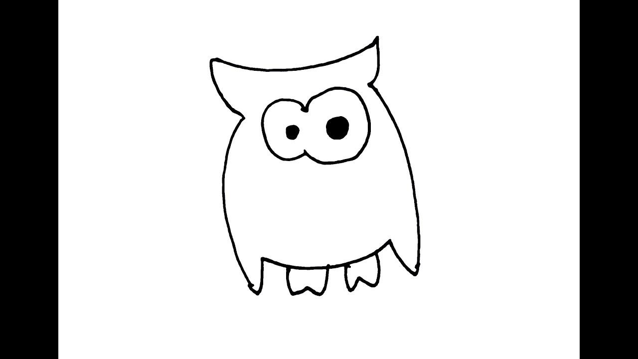 How I Draw Simple Cartoon Emoji Owl - YouTube