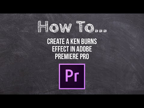 How To Create A Video With Moving Pictures (Ken Burn's Effect) In Premiere Pro