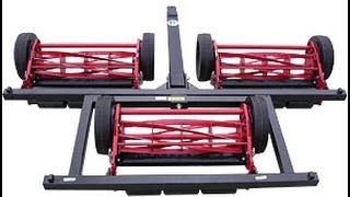 7 Gang Reel mower system review Mowing garden tractor