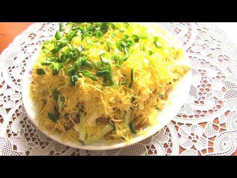 Салат с жареной картошкой с фото