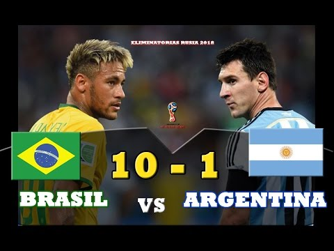 Make Brasil 10 vs Argentina 1 - Eliminatorias Rusia 2018 - 10/11/2016 'SIN MESSI NO SOMOS NADA' (3 - 0) Screenshots