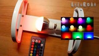 żarówki LED RGB E14 - Wielokolorowy RGB koloru światła 16 E14 + pilot / Rozpakowywania i testowania
