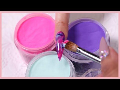 Water Color Marble | Acrylic Nail Art