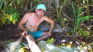 Выживание на необитаемом острове [5-Часть ] Ловля крабов.Заплыв в океан.