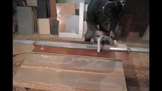 Распил ЛДСП дисковой пилой. Без сколов. Melamine cutting with circular saw.(Пила Makita 5704 R 1,2 кВт. Disk saw - 1.2 kWt., 2013-02-21T22:22:22.000Z)