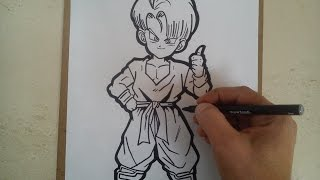 Como dibujar a trunks de dragón ball z / HOW TO DRAW A TRUNKS DBZ
