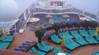 Carnival Sunshine in thick fog on the way to Halifax Canada HD