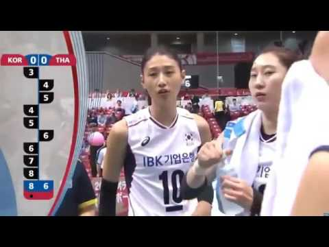 Korea 2 3 Thailand 2016 Women's Volleyball Olympic Rio Qualification