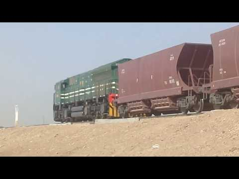 Pakistan Railways New General Electric Loco 9002 Carrying Out New Rake of Hopper Wagons