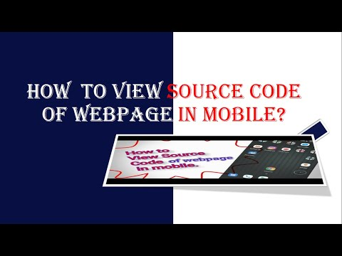 How To View Source Code Of Webpage On Mobile | View Source Code Of Website