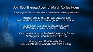 Rep. Theresa Abed March Coffee Hours