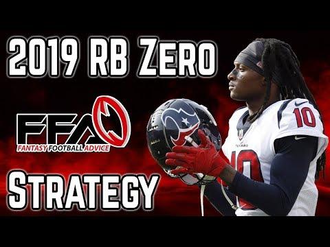 The RB Zero Strategy: 2019 Fantasy Football