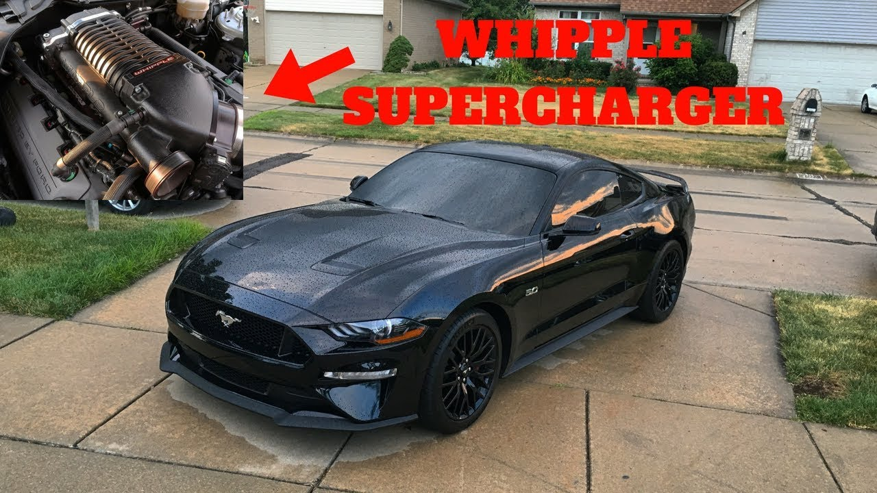 INSTALLING A WHIPPLE SUPERCHARGER ON MY 2018 FORD MUSTANG GT!
