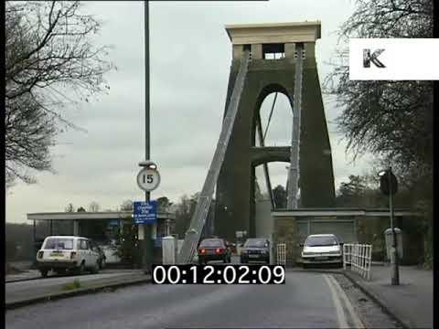 1990s Bristol, Severn Bridge, Clifton Suspension Bridge