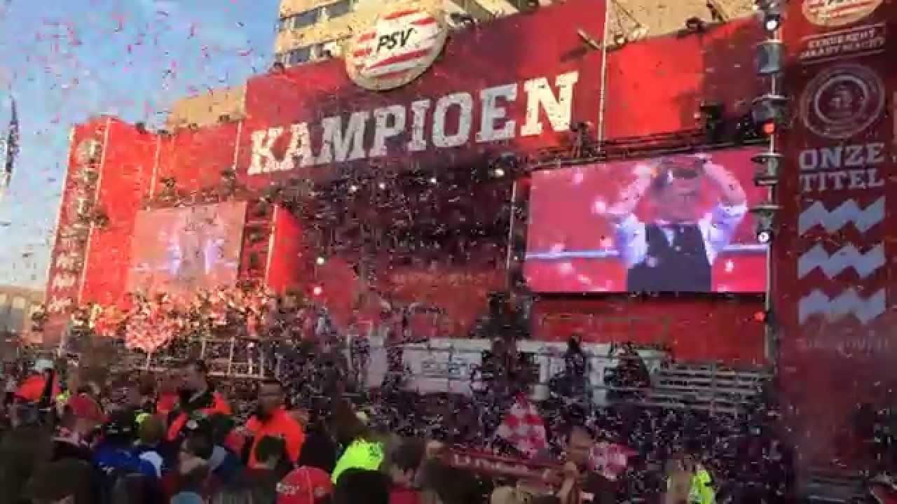 PSV kampioen 2014 - 2015 huldiging Guus zingt Brabant ...