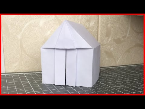 Как сделать из бумаги ДОМИК. Оригами ДОМИК.