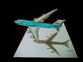 3D BOEING 747-400, KLM AIRLINES drawing timelapse