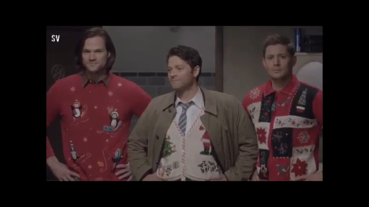 Supernatural Christmas Episodes.Sam Castiel Dean Supernatural Christmas Special 10x0 Clip
