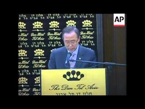 UN Sec Gen Ban Ki Moon Arrives, Barak, Livni, Abbas In Ramallah