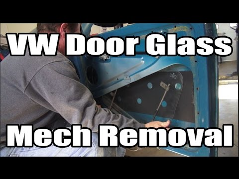 Classic VW BuGs How to Remove Install 65 and Later Beetle Door Mech Glass