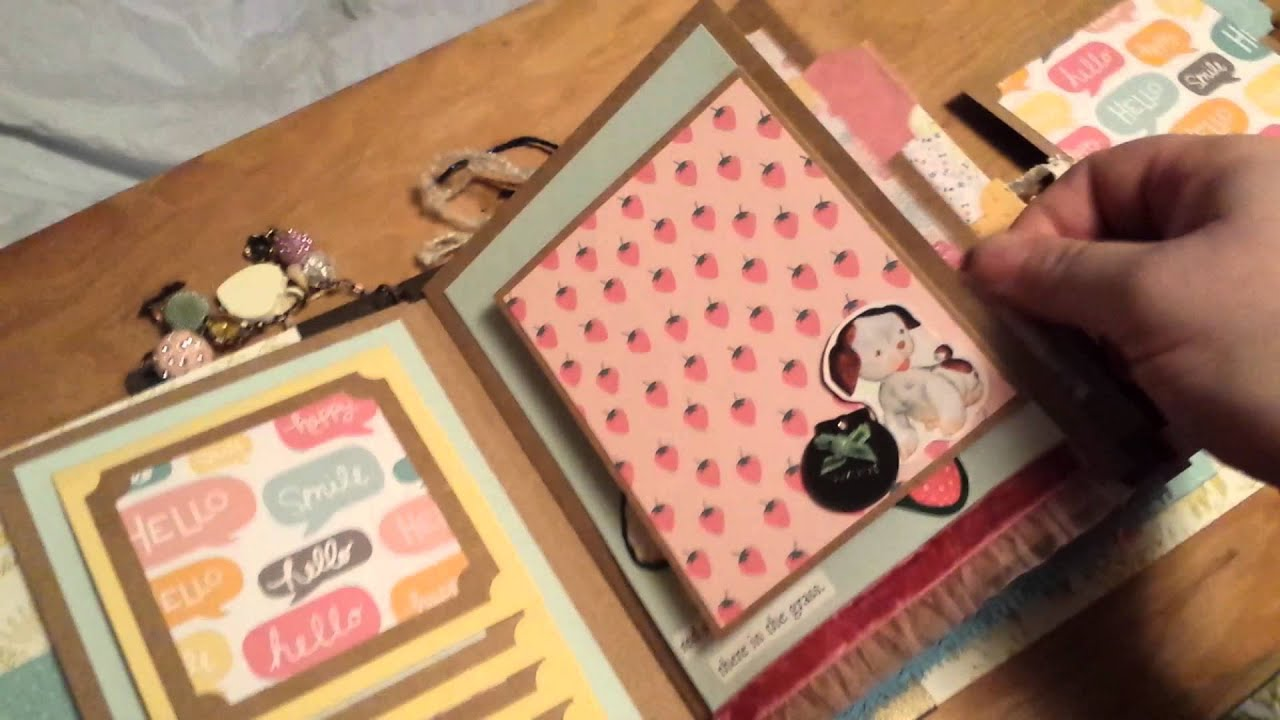 How to scrapbook baby book - Mini Album The Poky Little Puppy Baby Book