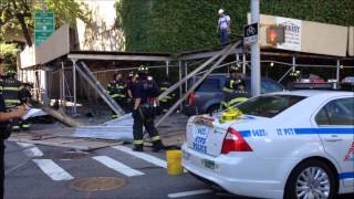 MVA INVOLVING OFF DUTY NYPD OFFICER, FDNY RESCUE 1, LADDER 2, ENGINE 21, NYPD ESS TRUCK 1, NYPD ESU.