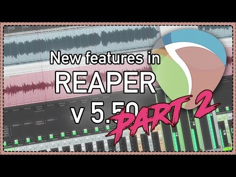 More New Features in REAPER v5.50 - new web remote layout, Spectral Hold, using Automation Items